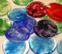 memorial glass touchstones